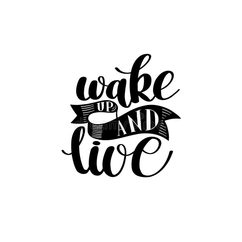 wake-up-live-morning-inspirational-quote-hand-drawn-text-v-vector-illustration-decorative-design-words-curly-fonts-great-83646052